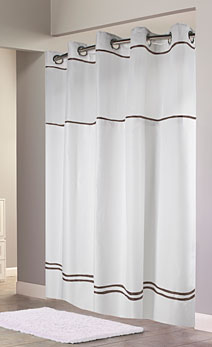 brown and white shower curtain. Escape Seafoam Blue Tonal  White Brown Arc Hookless Shower Curtains A1 Textiles YMCA
